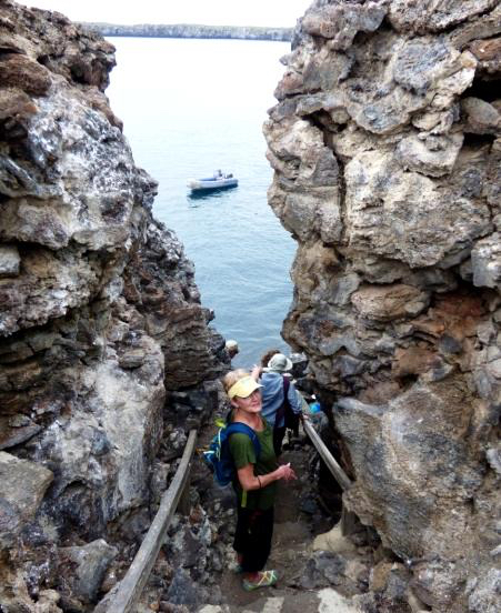 Prince Phillps Steps are one stop on Naturalist Journeys' vaccinated cruises to the Galapagos